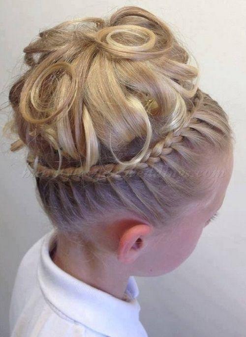hairstyles for flower girls    flower girl updo