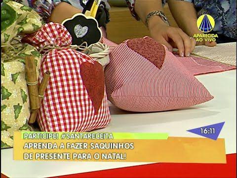 Santa Receita | Saquinhos de Presente para o Natal por Simone Casagrande...