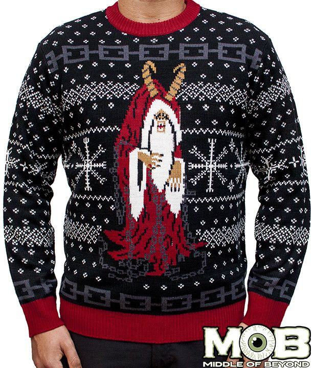 Product in Stock Ships in 1-2 Days Officially licensed sweater from the new film Krampus. This sweater is made of 100% acrylic. Black, red, grey, and white in color. Size Chart