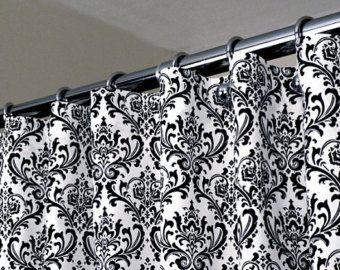 Curtains Ideas black and white patterned curtains : 17 Best images about Black & Pink Parisian Bathroom Ideas on ...