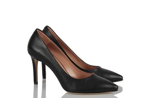 Stiletto Siyah Deri