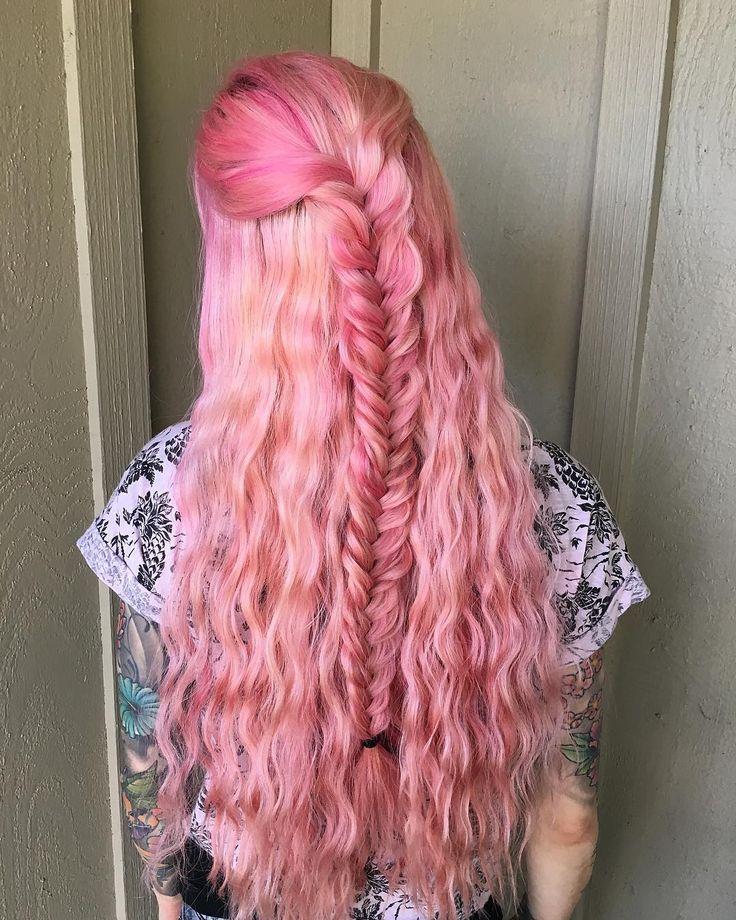 "302 lượt thích, 23 bình luận - Rachel Kampert  Tampa Stylist (@rachk.stylist) trên Instagram: "" Pastel Pink  // I miss my light pink hair! #tbt @rachk.stylist"""
