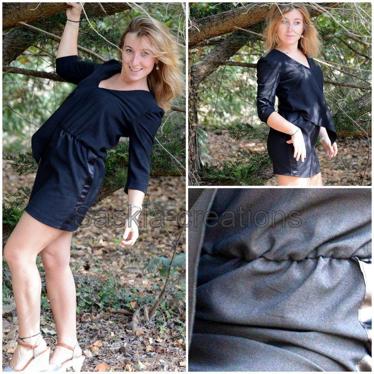 #petite #robe #noire #création #unique  @saskiacreations