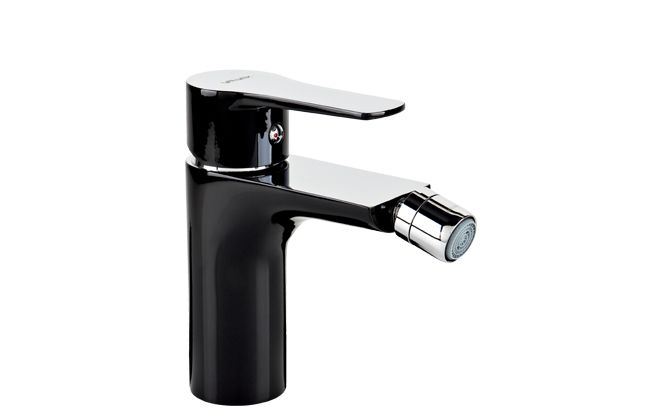 DALI BLACK Bidet mixer with manual pop-up drain |