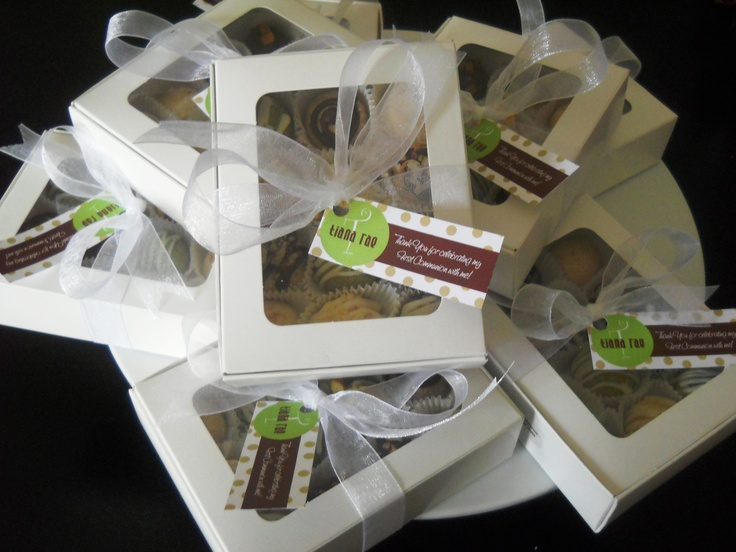 Mini Cookie Custom Giveaways - $7.00 / 12 pack    Excellent for Weddings, Anniversaries, First Communions or Fabulous Birthdays!  Choice of 4 flavours / box    To order email: lainenlola@rogers.com