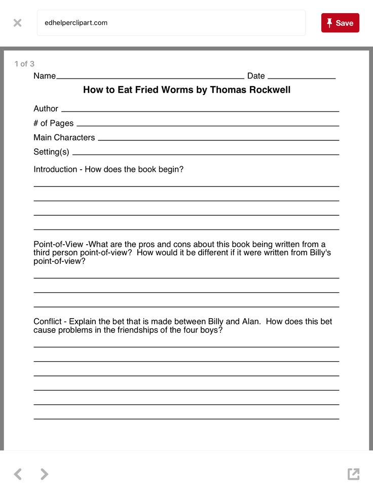 43 best how to eat fried worms activities images on pinterest worksheet 1 wormsworksheetseat ccuart Images