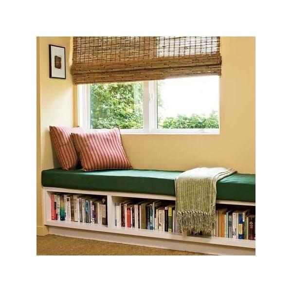 I want this bookshelf bench.