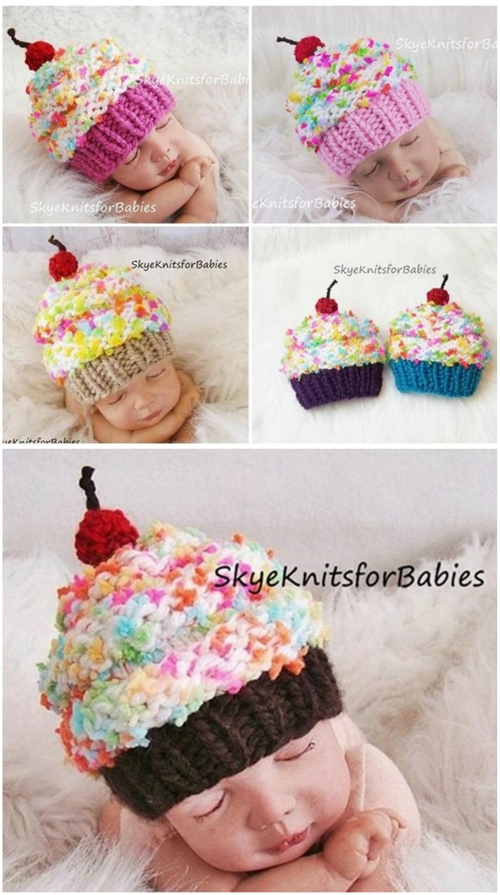 Photo Prop//Gift! Baby//Child//Adult New Crochet Cupcake Hat Various Sizes
