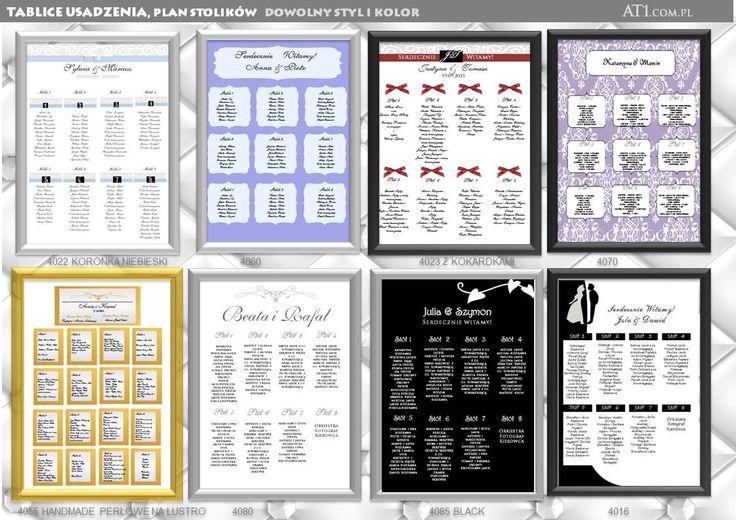 plan stołów tablica usadzenia gości projekt i druk A3 -49 B2-69 maków podhalański sucha beskidzka kraków lub indywidualny projekt: