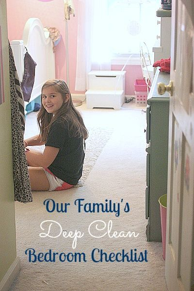 "Checklist for Deep Cleaning Bedrooms, but we use this one to help train the kids to know when a room is ""guest"" ready"