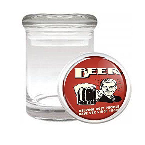 Medical Glass Stash Jar Vintage Bar Signs Cocktails S4 Air Tight Lid 3