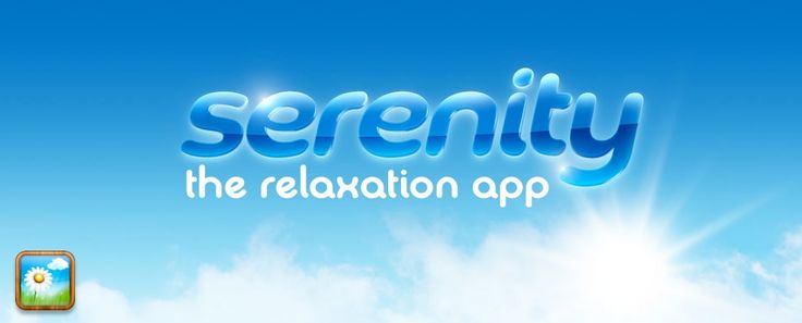 "Serenity | ""Find your personal Serenity and tap into 30 beautiful, relaxing video and audio destinations… peaceful fields, soft rain, underwater worlds, thunderstorms over sleepy towns, brightly colored clouds of incense, fantastic vortexes and piles of sleeping kittens await."""