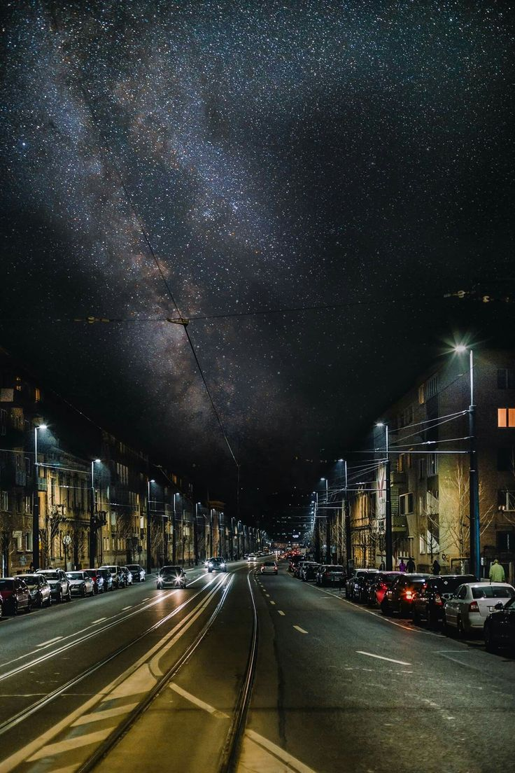 HDR of the night sky Cluj-Napoca