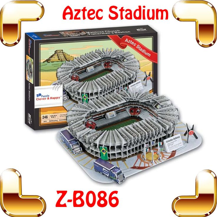 Новогодний подарок мексика Estadio Azteca 3D ацтеков стадион головоломки америка футбольный клуб DIY футбольные фанаты игрушки модель здания