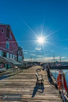 Looking down the port in Lunenburg, Nova Scotia | The Fisheries Museum is an excellent place to learn about the history and fishing culture of Nova Scotia | The Planet D Adventure Travel Blog