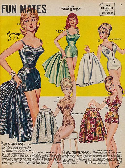 Spring 1966 Frederick's of Hollywood catalog A romper that with a skirt becomes a dress for work - I want one!