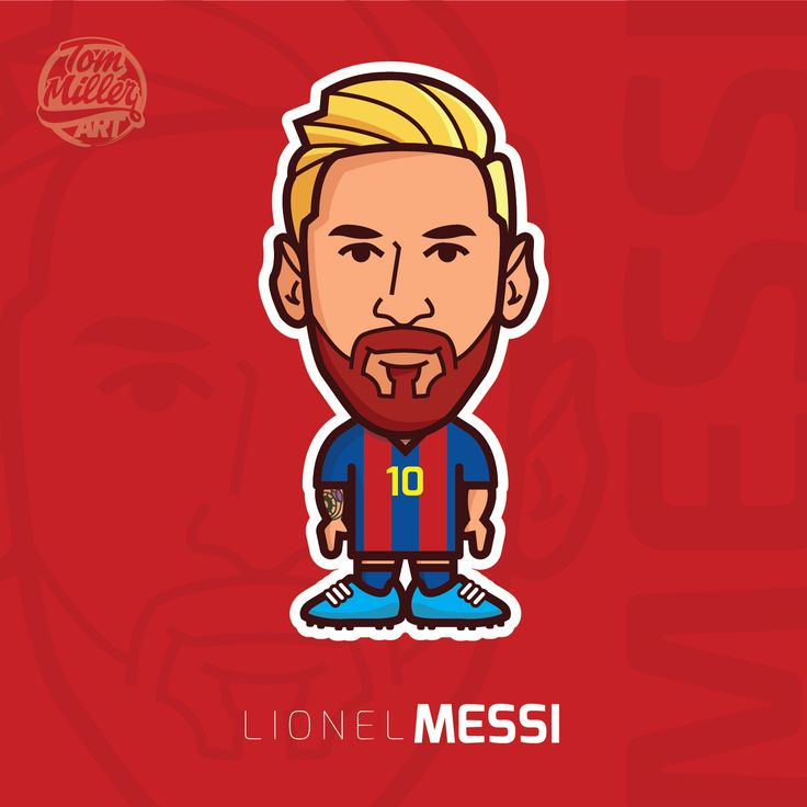 Lionel Messi #lionel #messi #barcelona #fcbarcelona #argentina #football #soccer #cartoon #comic #character #draw #vector #lineart #tommillerart #tommillerdesign