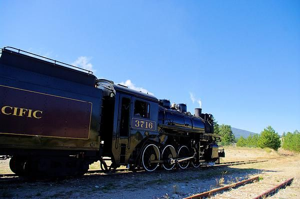 Canadian Pacific Steam Locomotive # 3716 on the remaining section of the Kettle Valley Railway in Summerland B.C.