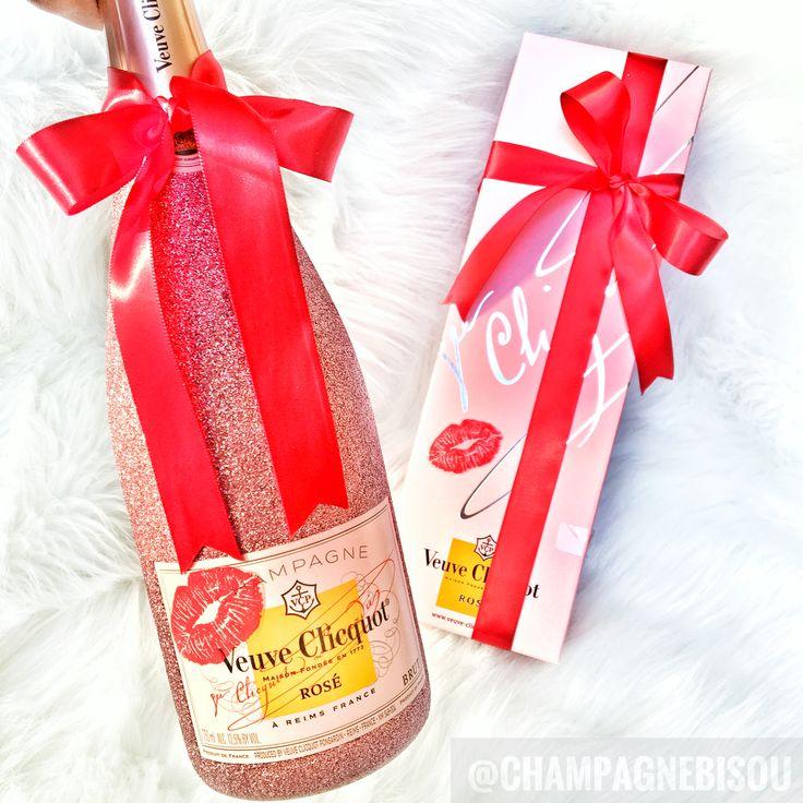 Valentine's Day Gifts  #Smooch Glam Bottle by #ChampagneBisou (Instagram)   #vday #valentine #valentinesday #vday2017 #kisses #glambottle #galentinesday #iloveyou #veuveclicquot #rose #veuveclicquotrose #pink #girlythings #lips #redlips #lipstick #champagne #giftforgirlfriend #valentinegifts #valentinedayparty