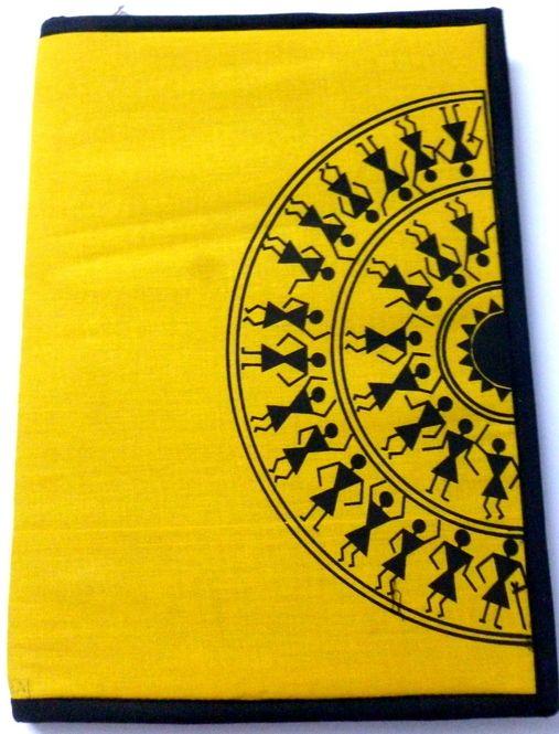 Warli Print Traditional Cloth #FileFolder #craftshopsindia
