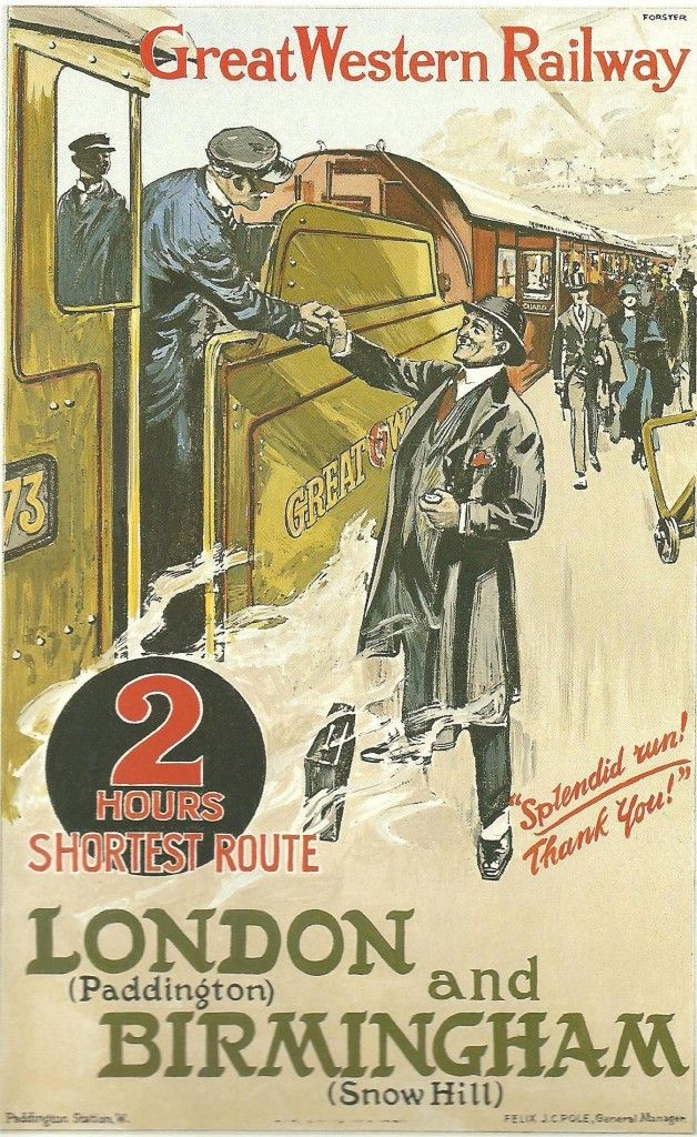 The Railway Poster came of age in the early part of this century and was in its heyday between 1910 and 1947. The halcyon days of the 'Golden Age of Steam'