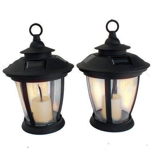 2 x OUTDOOR SOLAR FLICKERING LED CANDLES VICTORIAN STYLE TABLE LAMPS LIGHTS | eBay