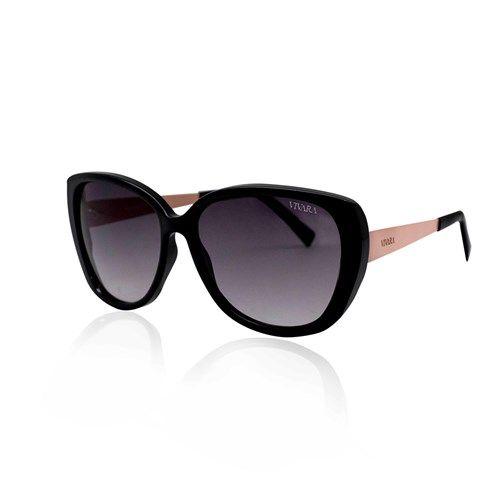 Óculos de Sol Gatinho Feminino Acetato Preto e Salmão   Women´s ... f8a1acf56f