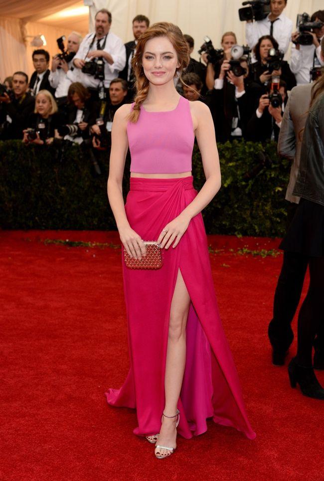 Cascade skirt idea // emma stone thakoon met gala 2014  2014 Met Gala Red Carpet Looks