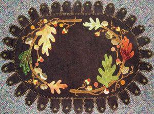 Free Primitive Penny Rug Patterns Folk Art Quilt Fabric