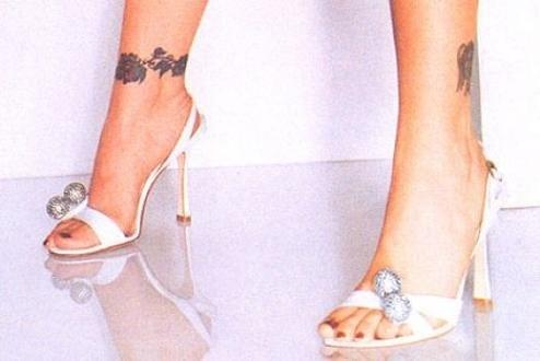 alyssa milano ankle tattoo