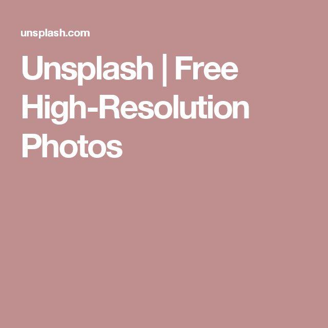 Unsplash | Free High-Resolution Photos
