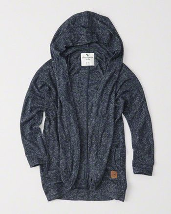 kids cozy fleece hooded cardigan