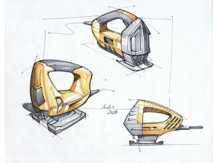 Power Tool Sketches by Austin Scott at Coroflot.com