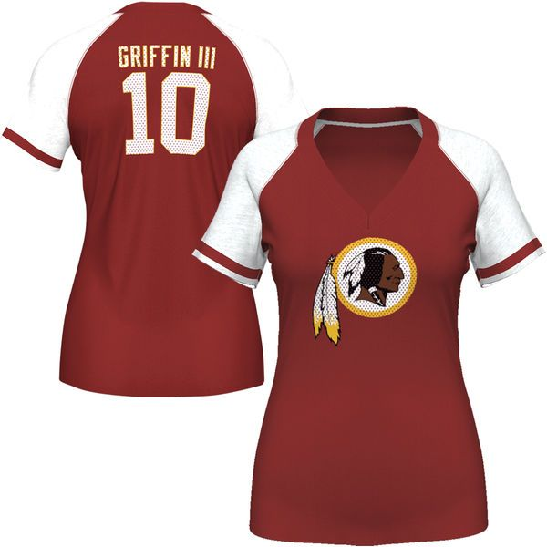 Robert Griffin III Washington Redskins Majestic Women's My Crush Name and Number T-Shirt – Burgundy - $17.99