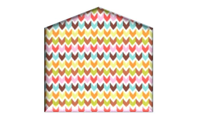 Zagłówek tapicerowany HOUSE w HomeColor na DaWanda.com