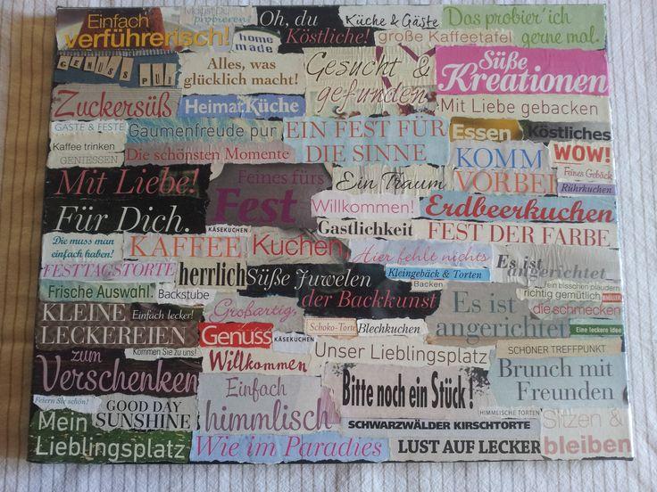 a collage I made for a friend who opened a bistro / eine Collage die ich für einen Freund gemacht habe, der ein Bistro eröffnet hat / een collage voor een vriend die een bistro geopend heeft