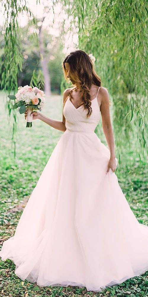 18 peach blush wedding dresses you must see 1