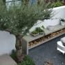 Mooie houtstek / afscheiding in de tuin