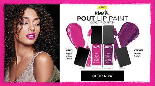 NEW!! Mark. Pout Lip Paint!    NEW!! Mark. Pout Lip Paint!  Have you seen the new Avon mark. pout lip paint color  primer?Mark. campaign 17 brochure price: $12.00  Its the best of both worlds.  Glide on the luscious lip paint that combines color and a built-in primer. More intense than lipstick more saturated than gloss. 0.237 fl. oz. BENEFITS Pure pigments Built-in primer guarantees a smooth even application and keeps color on lockdown Unique cushioned tapered tip applicator allows you to…