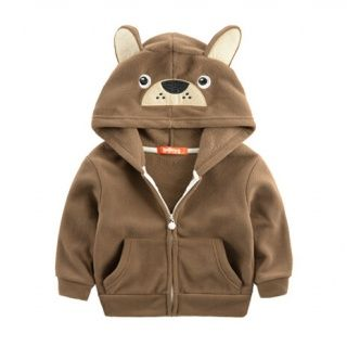 Cartoon animal shaped fleece hoodie owl sweatshirt for kids