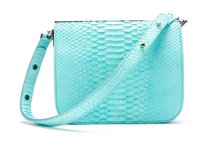 "Barbara Bui pastel blue python ""Touch me"" bag - Spring 2013"