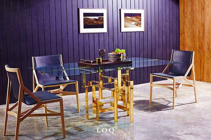 "New collection from LOQ ""LIPAO"" Collection   #loq #loqheritage #heritage #wood #brass #table #glass #interior #interiordesign #lipao #2014 #collection #furniture"