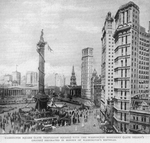 If London had looked like New York in 1902. Trafalgar Square and Nelson's Column. #London #NewYork #TrafalgarSquare #NelsonsColumn