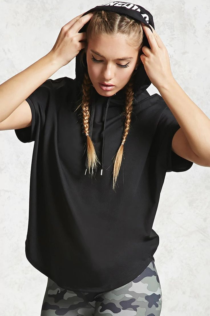 """A stretchy knit athletic pullover featuring an attached hood with an """"Unedited"""" graphic, a large back """"98"""" graphic, dropped shoulders with cap sleeves, curved hem, and a boxy silhouette."""
