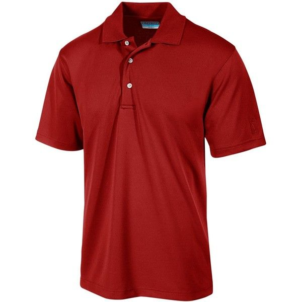 Pga Tour Men's Airflux Solid Golf Polo Shirt ($50) ❤ liked on Polyvore featuring men's fashion, men's clothing, men's shirts, men's polos, chili pepper, mens golf polo shirts, mens polo shirts and mens golf shirts