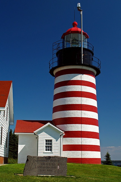 """Have not been: """"West Quoddy Head Light, Lubec, #Maine""""  #boomer #travel   But I know the lighthouses in Maine are beautiful....you should see Portland HeadLight at Cape Elizabeth"""