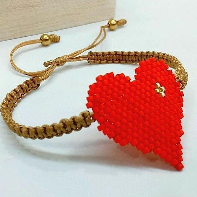 475afd1a8aa7 Happy Valentine s day ❤... Pulseras en Miyuki!! Nuevos diseños ...