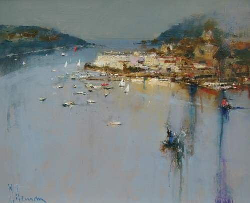 Clearing Mist Salcombe by Peter Wileman PPROI RSMA EAGMA FRSA