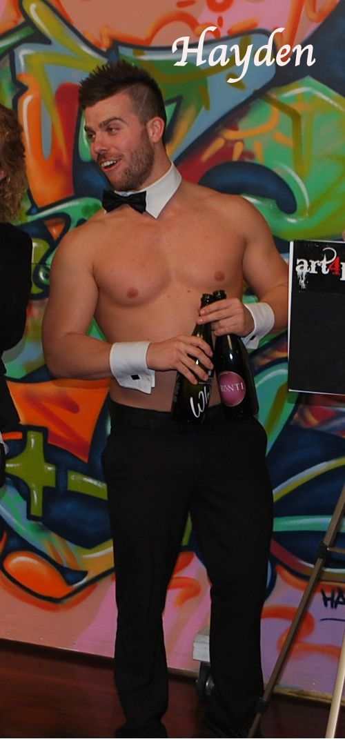 Hayden, Topless Waiter, Hire a Hunk Brisbane.