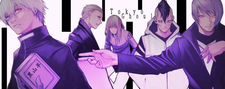 #Tokyo_Ghoul_re | #Kaneki_Ken | #Naki | #Yasuhisa_Kurona | #Tsukiyama_Shuu  By yoshi55level (twitter)